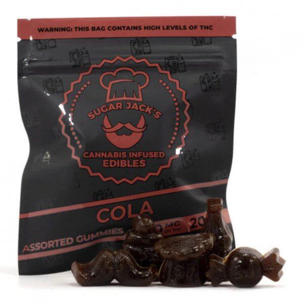 SugarJacks-Assorted-THC-Gummies-Cola-200MG-600×600