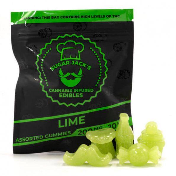 SugarJacks-Assorted-THC-Gummies-Lime-200MG-600×600