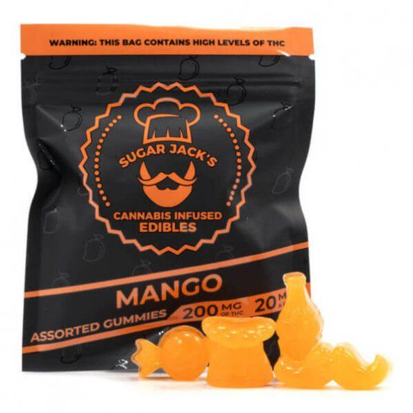 SugarJacks-Assorted-THC-Gummies-Mango-200MG-600×600