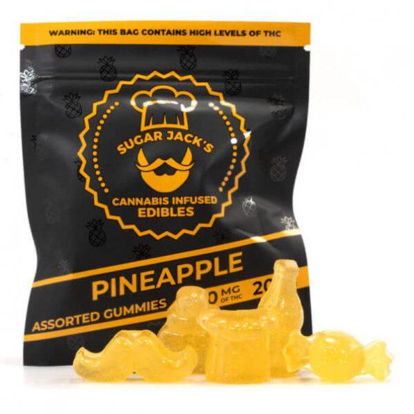 SugarJacks-Assorted-THC-Gummies-Pineapple-200MG-600×600