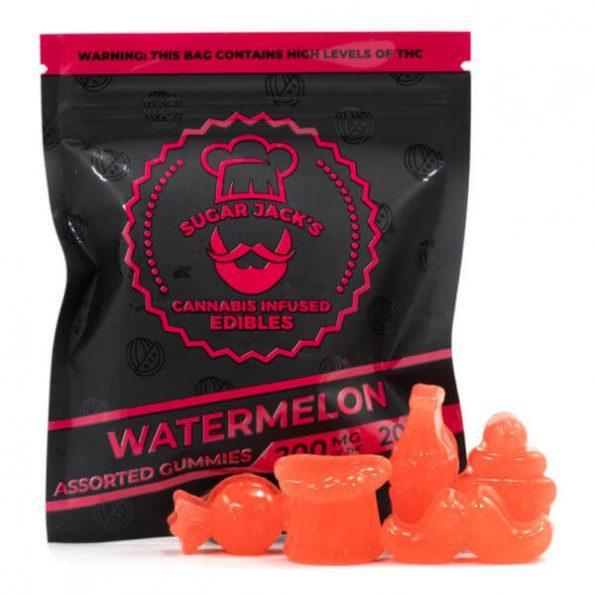 SugarJacks-Assorted-THC-Gummies-Watermelon-200MG-600×600